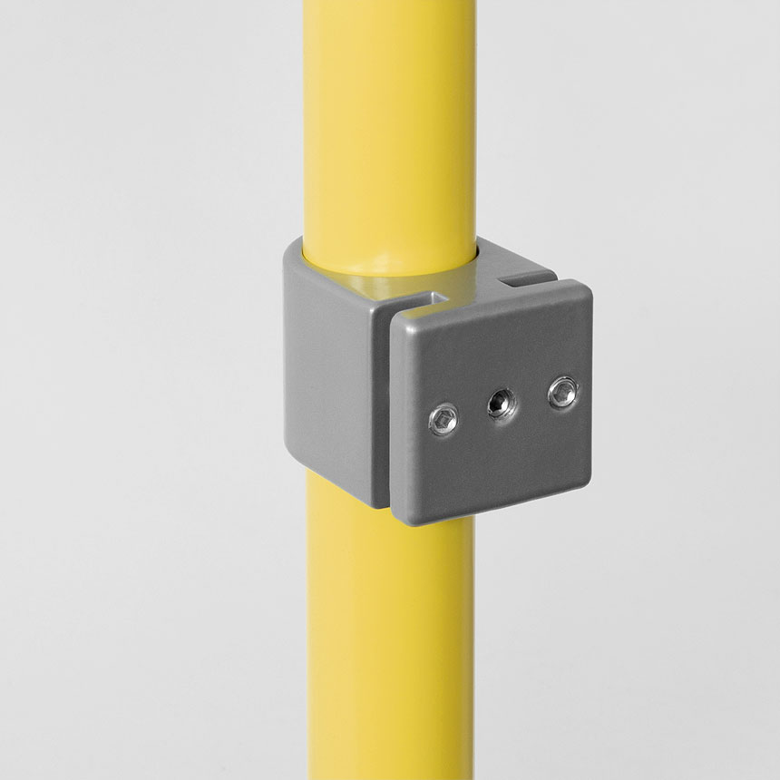 Connector with mounting for skirting board, No. 1412